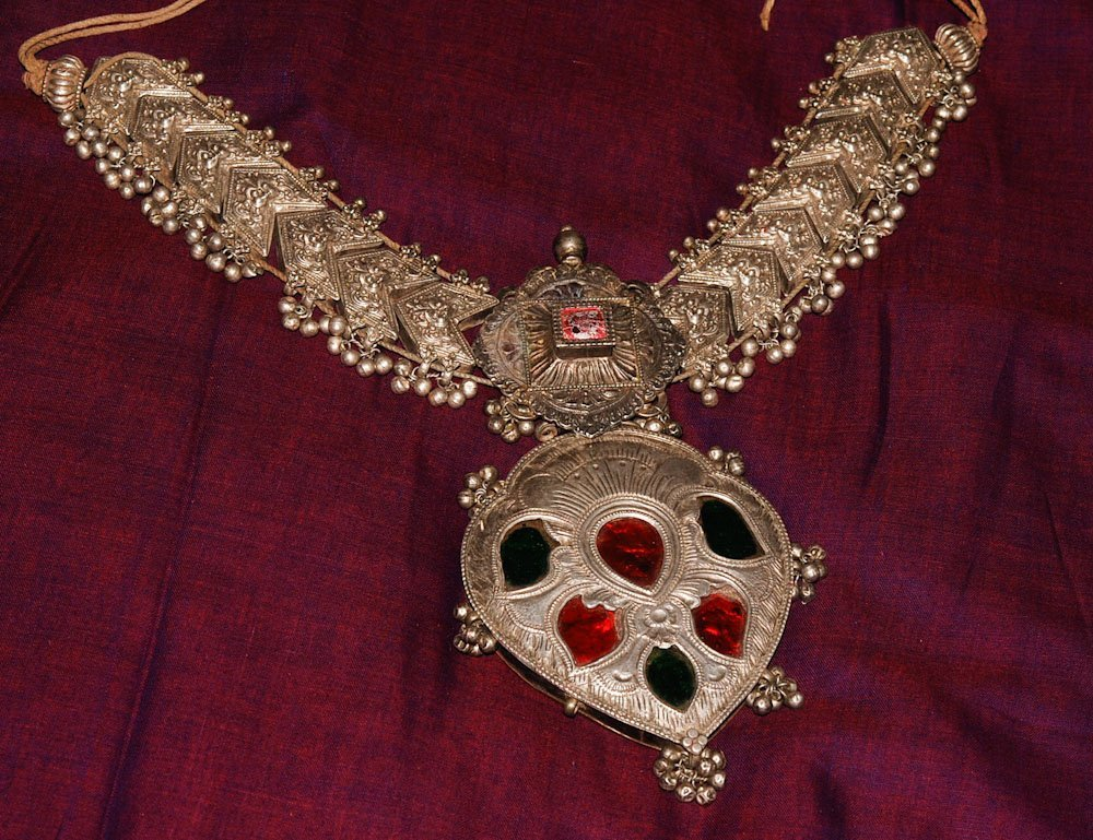 Old Silver Ceremonial Necklaces for a Pair of Royal