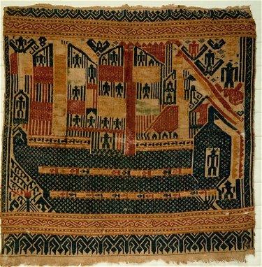 Antique Tampan Ship Cloth Textile