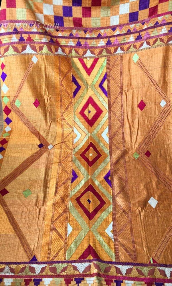 Antique Phulkari Bagh Textiles Art from India