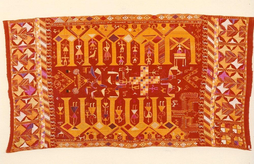 Antique Indian Textile Darshan Dwar Phulkari