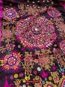 Vintage Embroidered Sari - Rabari Community
