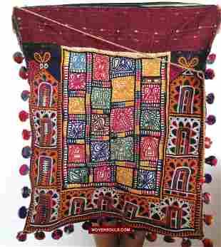 Vintage Tribal Dowry Bag Textile Kutch Gujarat