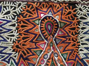 Vintage Debariya Rabari Toran Embroidered Decor - Pair