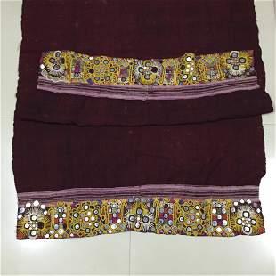 Vintage Rabari Wool Shawl in rare color