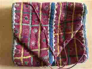 Old Banjara Handwoven Cotton Pouch with Embroidery
