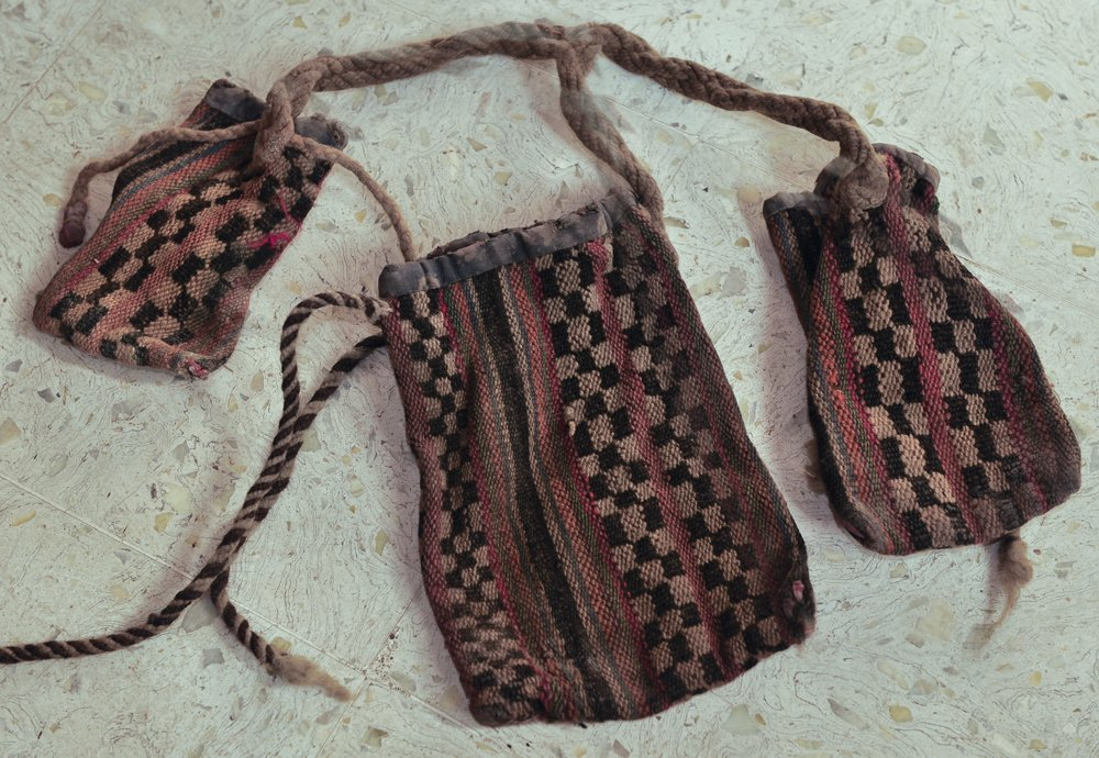 TIBET NOMADIC TRIFURCATED POUCH late 19th century