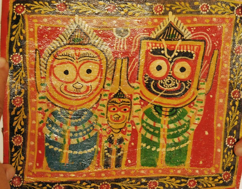 PAINTING  PATTACHITRA OF LORD JAGANNATH early 20th C
