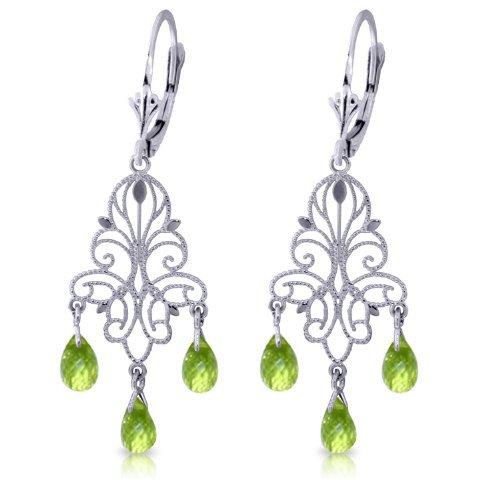14k Gold Peridot Fleur-de-lis Earrings