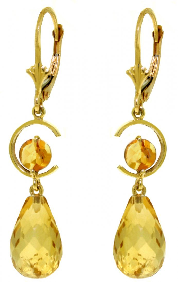 14k Yellow Gold Citrine Duo Earrings