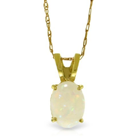 14k Yellow Gold 0.45ct Opal Necklace