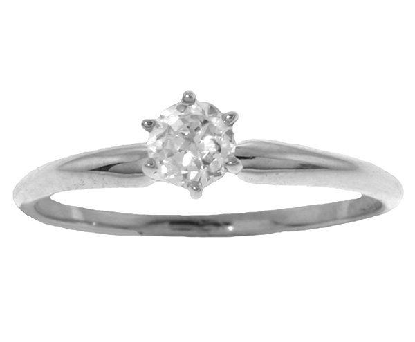 0.25CT J-K SI2 Diamond Solitaire Ring in 14k White Gold
