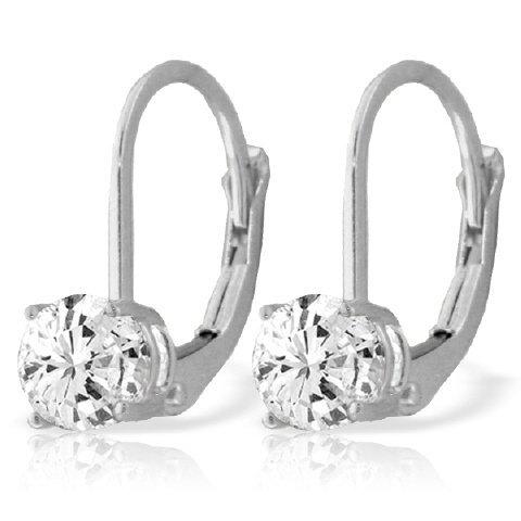 14k WG 1.0ct J-K, SI2 Diamond Earrings