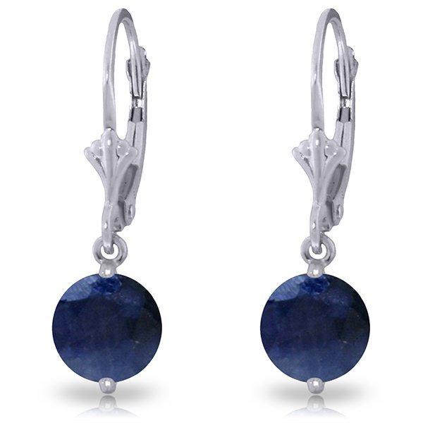 14k White Gold 3.30ct Sapphire Dangle Earrings