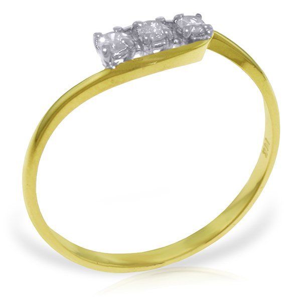 14k Solid Gold 0.15ct, K-M, I3 Diamond Ring