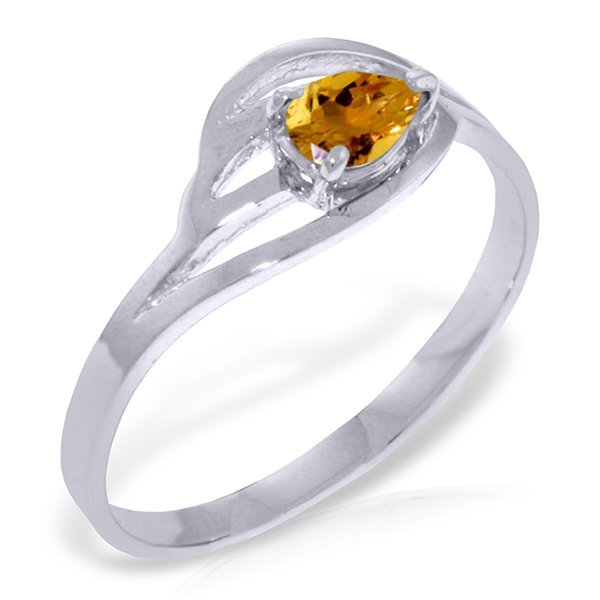 14k Solid Gold 0.30ct Citrine Ring