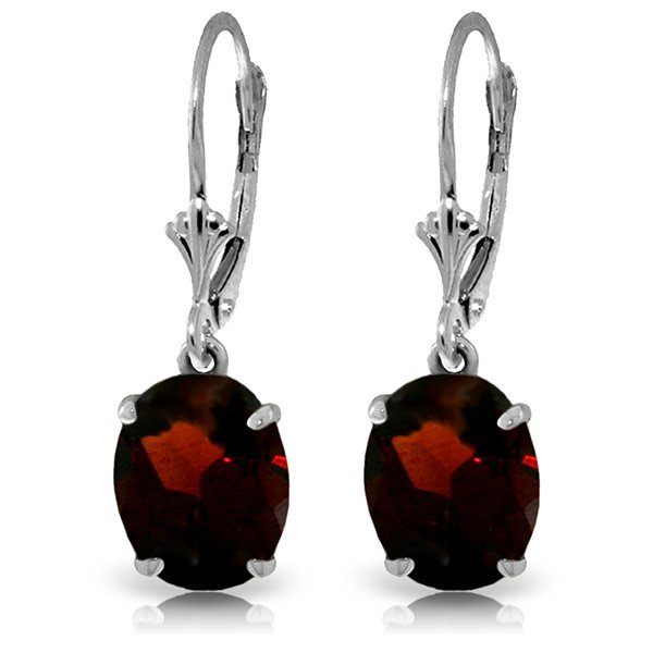 14k Solid Gold 6.25ct Garnet Earrings