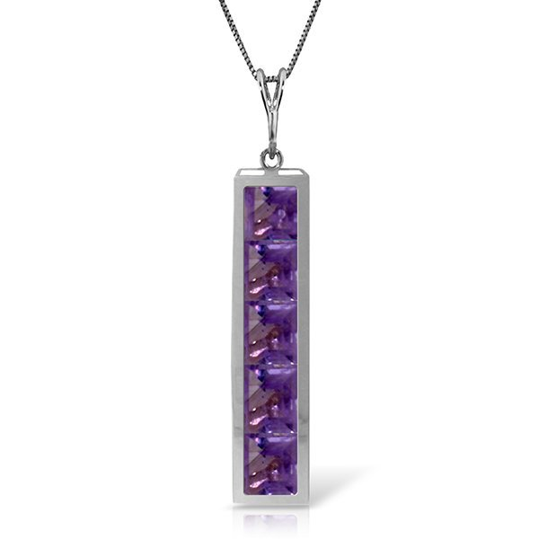 14k Solid Gold 2.25ct Amethyst Necklace