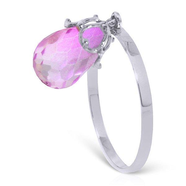 14k 1.60gr Solid Gold 3.0ct Pink Topaz Ring
