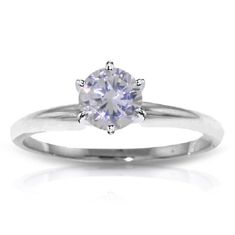 1.0CT F-G SI3 Diamond Solitaire Ring in 14k White Gold