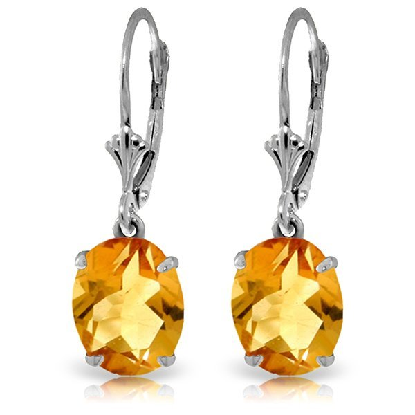 14k Solid Gold 6.25ct Citrine Earrings