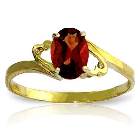 14k Yellow Gold 0.90ct Garnet Swirl Ring