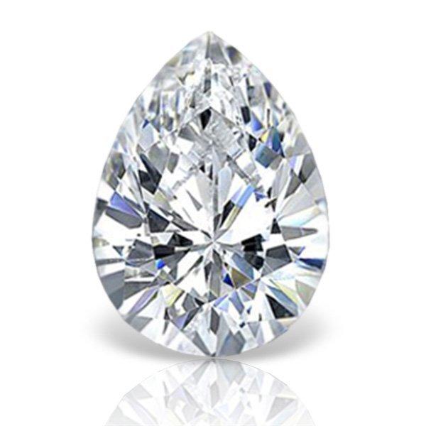 EGL CERT 0.54 CTW PEAR CU DIAMOND D/SI2