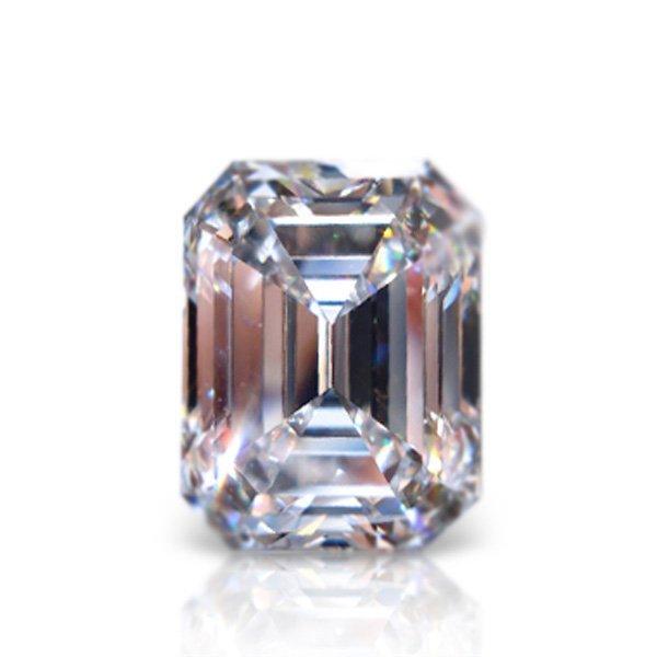 EGL CERT 0.73 CTW EMERALD CUT DIAMOND D/SI2