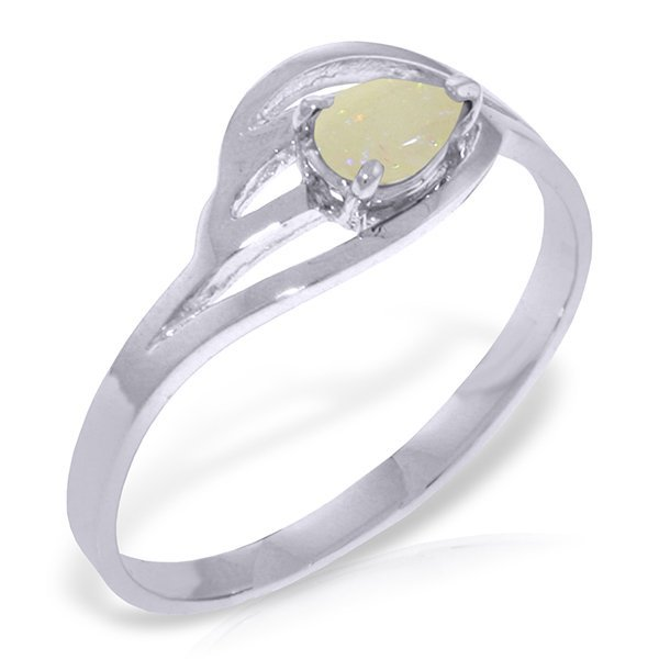 14k Solid Gold 0.15ct Opal Ring