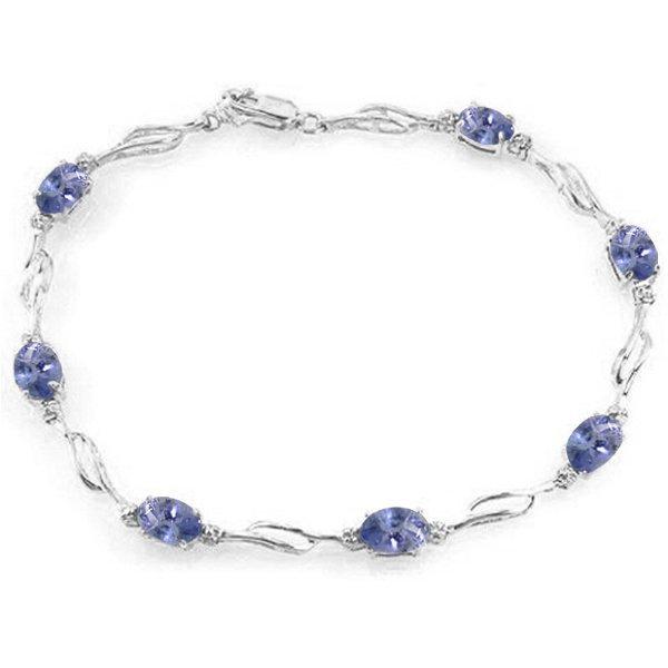 14k Tennis Bracelet with 3.0ct Tanzanites and Diamond