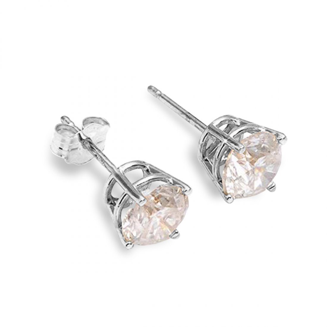0.60 CT. H-I SI2 Genuine Diamond 14k Gold Stud Earrings