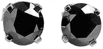 2.0ct Black Diamond Stud Earrings in 14k WG
