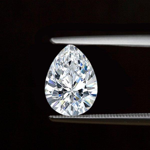 EGL CERT 0.71 CTW PEAR CUT DIAMOND G/VVS2