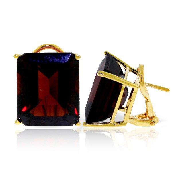 14k YG 14.0ct Garnet French Clip Earrings