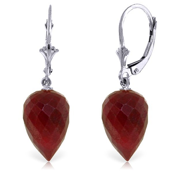 14k Gold 26.10ct Ruby with Diamond Earrings