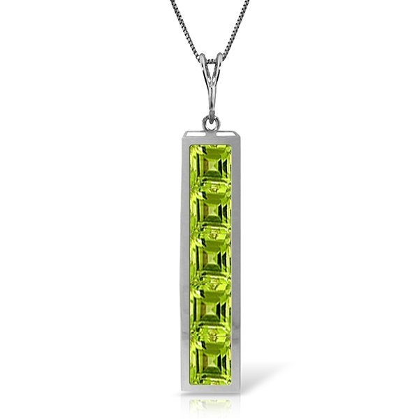 14k Solid Gold 2.25ct Peridot Necklace