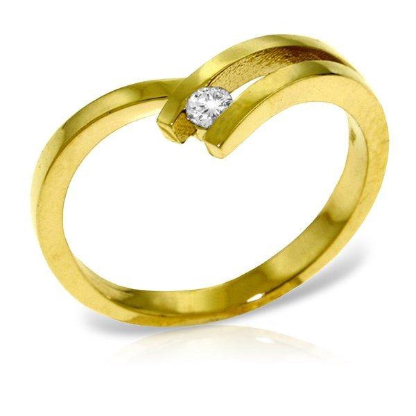 14k Yellow Gold 0.10ct, K-M, I3 Diamond Ring