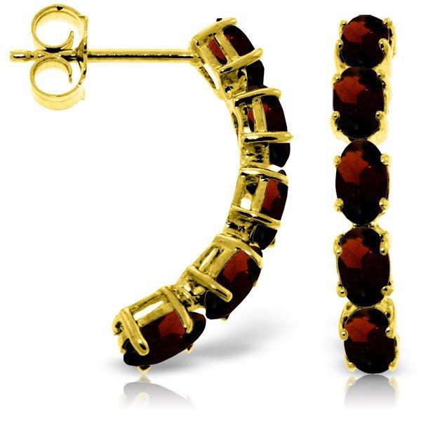 14k Solid Gold 2.50ct Garnet Earrings