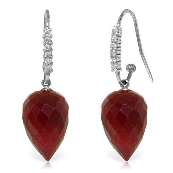 14k WG 26.10ct Ruby & Diamond Earrings