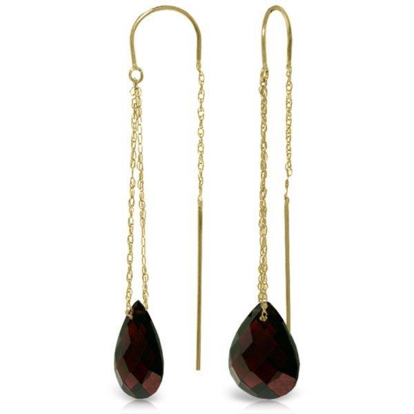 14k Yellow Gold 6.0ct Garnet Threaded Earrings