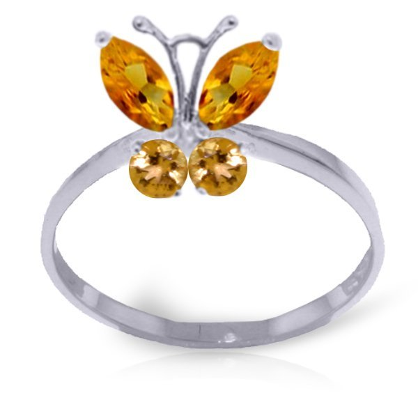 14k 1.80gr Solid Gold Citrine Butterfly Ring
