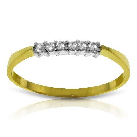 14k YELLOW GOLD .10ct I-J, SI-1 Diamond Prong-Set Ring