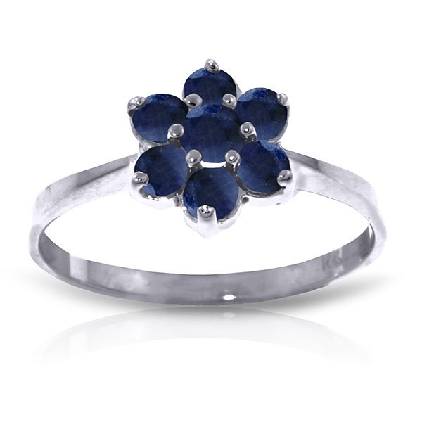 14k 1.80gr Solid Gold Sapphire Flower Ring