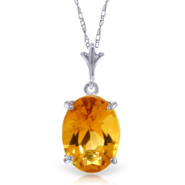 14k Solid Gold 3.12ct Citrine Necklace