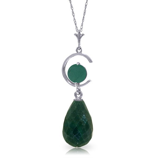 14K White Gold 8.8ct .50ct Emerald Leverback Earring