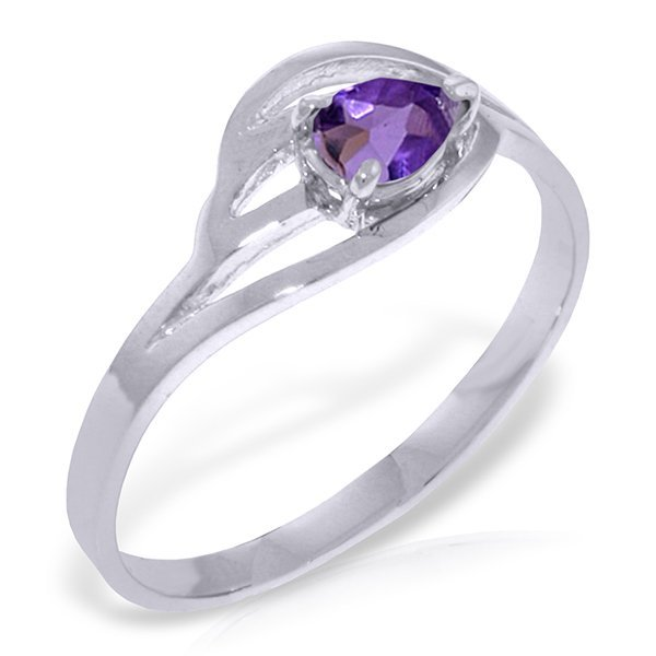 14k Solid Gold 0.30ct Amethyst Ring