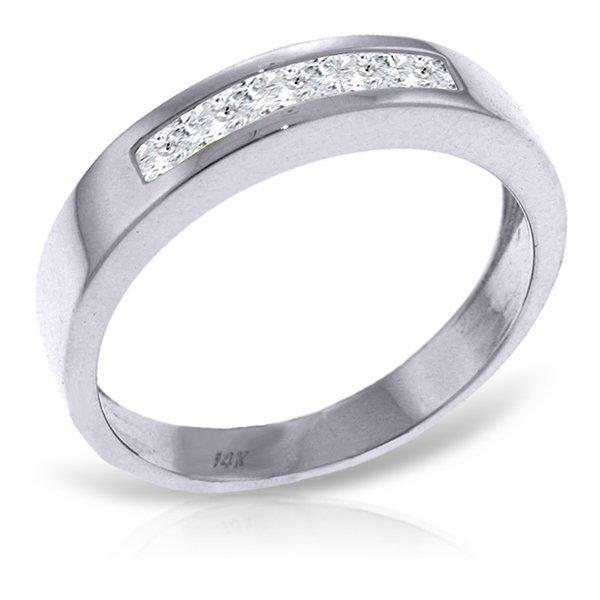 14k White Gold 0.60ct White Topaz Ring