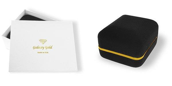 14K Solid Gold 6.0ct White Topaz & Diamond Earring - 4