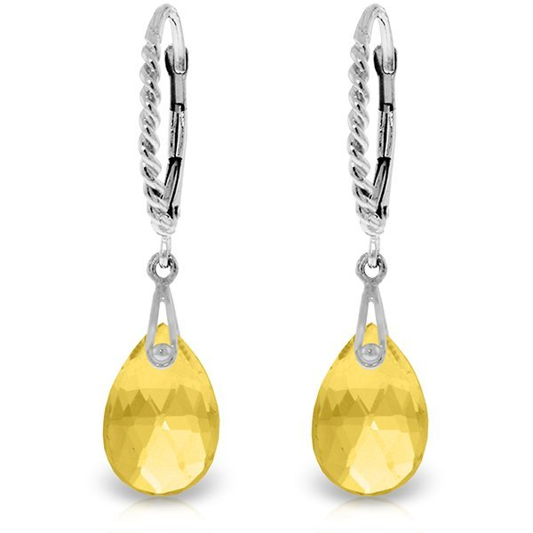 14k Solid Gold 6.0ct Citrine Earrings