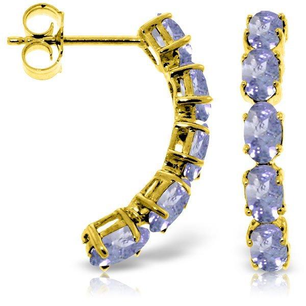 14k Y. Gold Prong Set 2.50ct Tanzanite Earrings