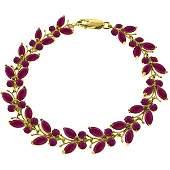 14k 11.80gr Solid Gold Ruby Butterfly Bracelet